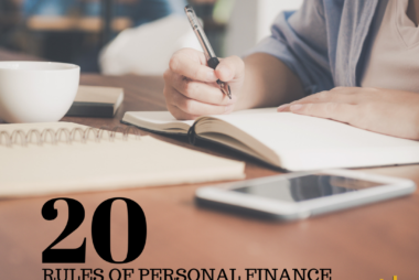 20 Rules of Personal Finance